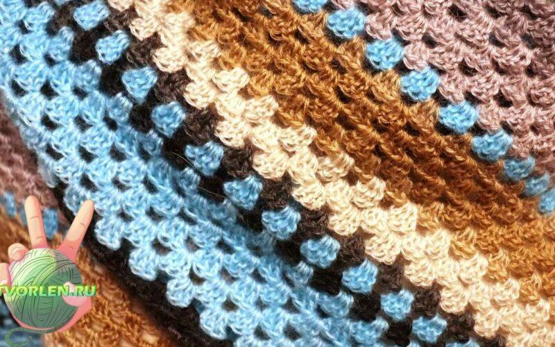 бабушкин платок крючком для начинающих