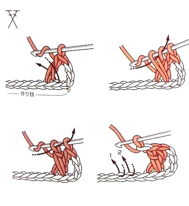 как вязать перекрещенные столбики с накидом