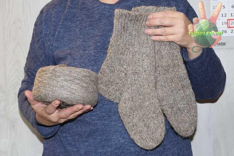 мужские носки спицами большого размера